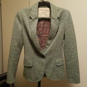 CARTONNIER Green/Cream Heathered Jacket, XS
